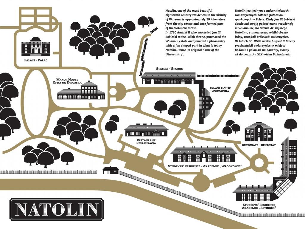Mapa Kampusu Natolin - Kolegium Europejskie w Warszawie