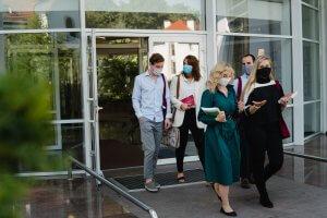 European Interdisciplinary Studies students wearing masks